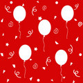 Birthday balloons pattern Royalty Free Stock Images