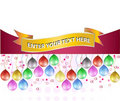 Birthday banner Stock Photography