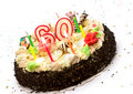 Birthday cake for 60 years jubilee Royalty Free Stock Photos