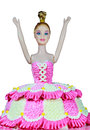 Birthday cake beautiful fancy doll Royalty Free Stock Image