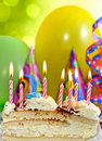 Birthday cake and candles Royalty Free Stock Photos
