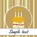 Birthday cake card Royalty Free Stock Images