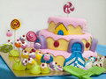 Birthday cake colorful for years old of my daughter Royalty Free Stock Photo