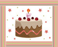 Birthday cake frame Stock Photos