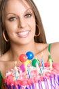 Birthday Cake Girl Stock Photos