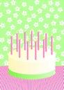 Birthday Cake Invitation Card Royalty Free Stock Photo