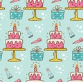 Birthday cake kawaii background