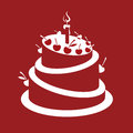 Birthday cake monochrome design of Royalty Free Stock Photos
