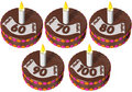 Birthday cake sixty to hundred Stock Photo