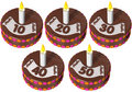 Birthday cake ten to fifty Royalty Free Stock Photo