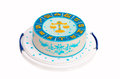 Birthday cake with zodiac symbols and libra Royalty Free Stock Photo
