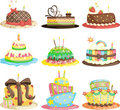 Birthday cakes Royalty Free Stock Photo