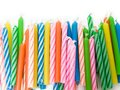 Birthday candles background for Royalty Free Stock Images