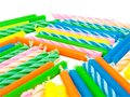 Birthday candles background for Stock Image