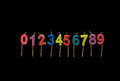 Birthday candles numbers Royalty Free Stock Photo