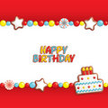 Birthday candy background Royalty Free Stock Photo
