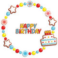 Birthday candy frame Royalty Free Stock Photography