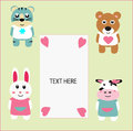 Birthday Card Animals Fun Cartoon