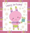 Birthday card- bunny