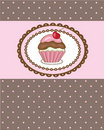 Birthday card with cherry cupcake. Good for any ge