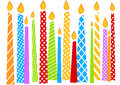 Birthday Card With colorful Candles