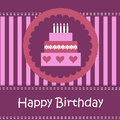 Birthday card with copy space this is file of eps format Royalty Free Stock Photography
