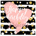 Birthday card Design elements for little princess, glamour girl and woman. vector illustration.