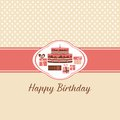 Birthday card greeting for the illustration Royalty Free Stock Photos
