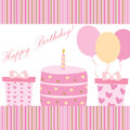 Birthday card happy for girl Royalty Free Stock Photography