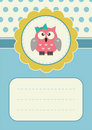 Birthday card with owlet Stock Images