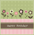 Birthday card, vector Royalty Free Stock Image