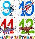 Birthday cartoon design for boy Royalty Free Stock Photo
