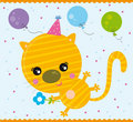 Birthday cat Stock Photo
