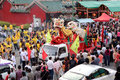 Birthday Celebration of Deity Kong Teck Choon Ong Royalty Free Stock Photography