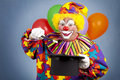 Birthday Clown Magic Show Royalty Free Stock Photography
