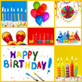 Birthday collage Royalty Free Stock Photos