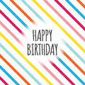 Birthday color lines vector illustration of design element Royalty Free Stock Photos