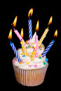 Birthday cupcake Royalty Free Stock Photography