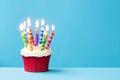 Royalty Free Stock Photo Birthday cupcake