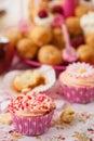 Birthday cupcake with sprinkles Royalty Free Stock Photo