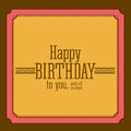 Birthday design over brown background vector illustration Royalty Free Stock Photo
