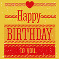 Birthday design over yellow background vector illustration Stock Photos