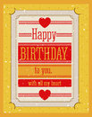 Birthday design over yellow background vector illustration Royalty Free Stock Photos