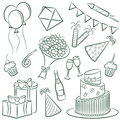 Birthday Doodle Royalty Free Stock Photography