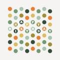 Birthday dots pattern vector illustration of design element Royalty Free Stock Photo