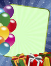 Birthday frame Royalty Free Stock Image