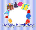 Birthday frame Royalty Free Stock Images