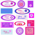 Birthday gift labels / tags Royalty Free Stock Photo