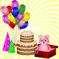 Birthday gifts and decoration Royalty Free Stock Photos