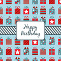Birthday gifts wrapping Royalty Free Stock Photo